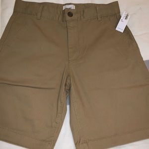Boys 10Husky Chino shorts, natural khaki